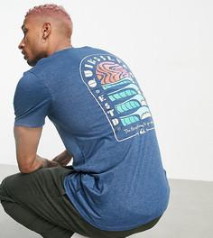 Голубая футболка Quiksilver Magic Tide – эксклюзивно для ASOS-Белый