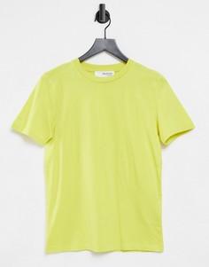 Зеленая футболка Selected Femme-Зеленый цвет
