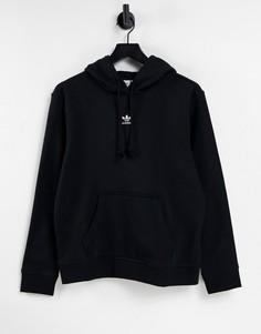 Черный флисовый худи adidas Originals Essentials-Черный цвет