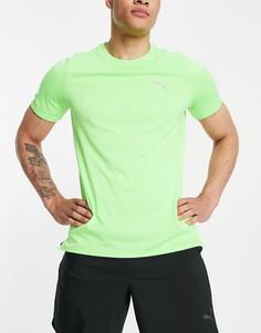Ярко-зеленая футболка PUMA Running Favorite-Желтый