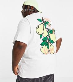 Белая футболка с принтом фруктов на спине New Love Club Plus-Белый