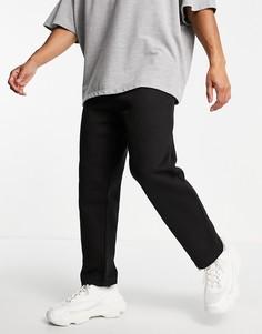 Черные oversized-джоггеры с широкими штанинами Bershka-Черный цвет