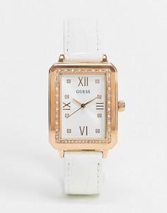 Часы с квадратным циферблатом Guess-Белый