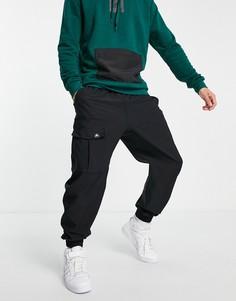 Черные джоггеры с карманом спереди в утилитарном стиле adidas-Черный цвет