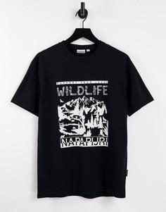 Черная футболка Napapijri Latemar-Черный цвет