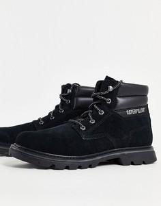 Черные ботинки на шнуровке CAT Quadrate-Черный цвет Caterpillar