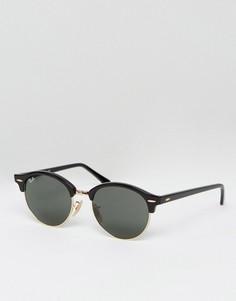 Черные круглые солнцезащитные очки «Клабмастер» Ray-Ban-Черный цвет