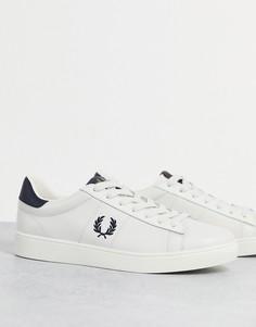 Белые кожаные кроссовки Fred Perry Spencer-Белый