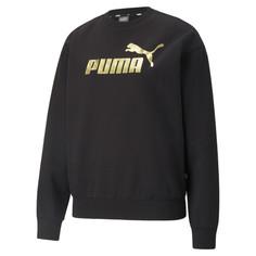 Толстовка Essentials+ Metallic Logo Crew Neck Womens Sweatshirt Puma