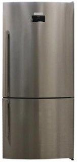 Холодильник Sharp Комбинированный с нижней МК, NoFrost, 84*75*186 см (нержавеющая сталь)