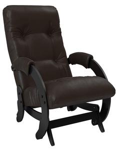 Кресло-качалка глайдер Модель 68, Венге, экокожа Dundi 108 Leset