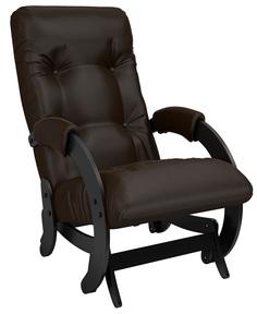 Кресло-качалка глайдер Модель 68, Венге, экокожа Oregon 120 Leset