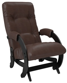 Кресло-качалка глайдер Модель 68, Венге, экокожа Vegas Lite Amber Leset