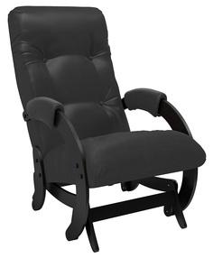 Кресло-качалка глайдер Модель 68, Венге, экокожа Vegas Lite Black Leset