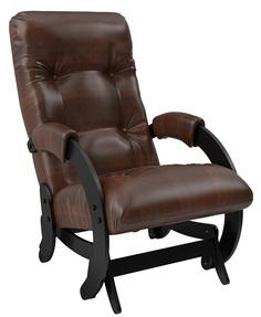 Кресло-качалка глайдер Модель 68, Венге, экокожа Antik crocodile Leset