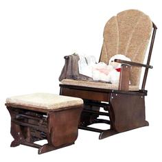 Кресло-качалка Красная звезда С 254 с подставкой для ног, шоколадное