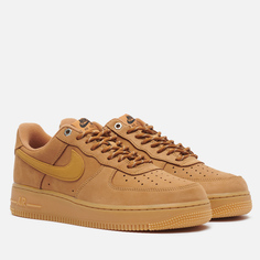 Мужские кроссовки Nike Air Force 1 07 Low, цвет коричневый, размер 43 EU