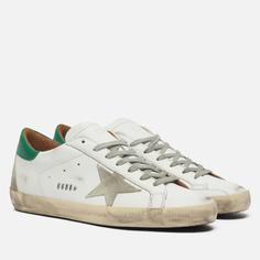 Мужские кроссовки Golden Goose Super-Star Leather/Suede Star, цвет белый, размер 44 EU