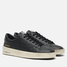 Мужские кроссовки Golden Goose Stardan Leather, цвет чёрный, размер 40 EU