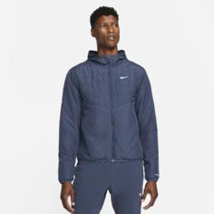 Мужская беговая куртка с синтетическим наполнителем Nike Therma-FIT Repel - Синий