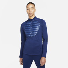 Женская футболка для футбольного тренинга Nike Therma-FIT Academy Winter Warrior - Синий