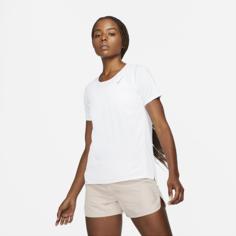 Женская беговая футболка с коротким рукавом Nike Dri-FIT Race - Белый