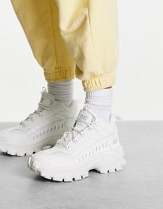 Белые походные ботинки средней высоты на шнуровке CAT Intruder-Белый Caterpillar