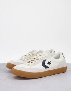 Светло-бежевые кроссовки на резиновой подошве Converse Net Star Classic-Светло-бежевый цвет