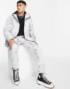 Серые прямые джоггеры от комплекта с камуфляжным принтом Topman-Серый