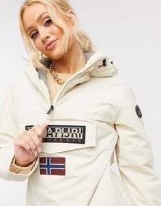 Кремовая зимняя куртка Napapijri Rainforest-Белый