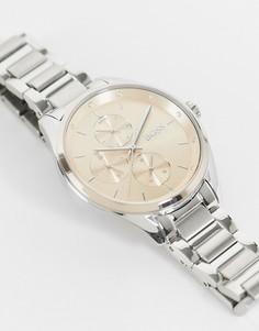 Женские часы с розовым хронографом и серебристым браслетом Boss-Серебряный
