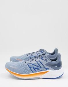 Сине-оранжевые кроссовки New Balance FuelCell Propel V2-Голубой