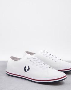 Белые саржевые кроссовки Fred Perry Kingston-Белый