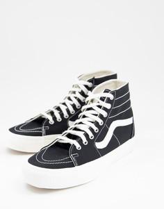 Черные кроссовки Vans SK8-Hi Tapered Eco Theory-Черный цвет
