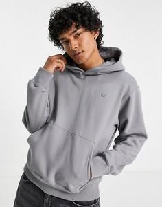 Худи-премиум серого цвета adidas Originals adicolor Contempo-Серый
