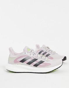 Сиренево-серые беговые кроссовки adidas Solar Glide 4-Фиолетовый цвет