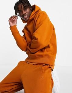 Худи темно-оранжевого цвета adidas Originals adicolor Contempo-Оранжевый цвет