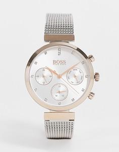 Часы с сетчатым ремешком BOSS flawless 1502551-Серебряный