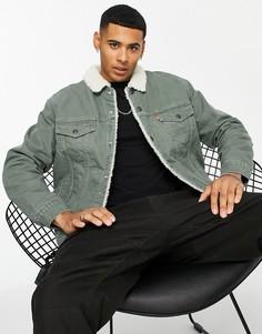 Серая куртка на меховой подкладке Levis Type 3-Серый