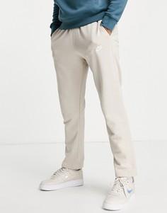 Светло-бежевые прямые джоггеры из французского терри Nike Club-Светло-бежевый цвет
