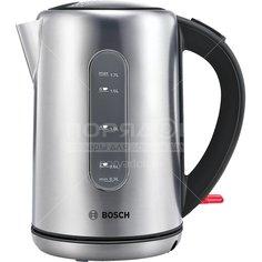 Чайник электрический Bosch, TWK 79B05, 1.7 л, 2200 Вт, скрытый нагревательный элемент, металл