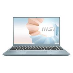 "Ноутбук MSI Modern 14 B11SB-413RU, 14"", IPS, Intel Core i5 1135G7 2.4ГГц, 16ГБ, 512ГБ SSD, Windows 10, 9S7-14D212-413, голубой"