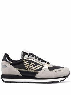 Emporio Armani кроссовки со вставками
