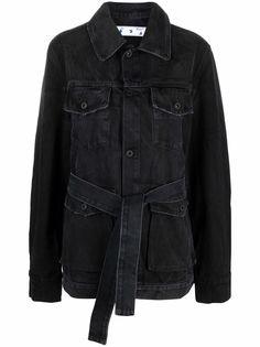 Off-White джинсовая куртка с поясом