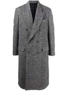 Fendi двубортное пальто на пуговицах