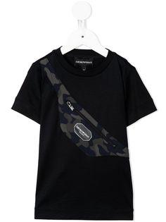 Emporio Armani Kids футболка с принтом