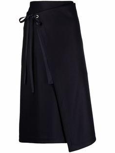 Jil Sander шерстяная юбка с завязками