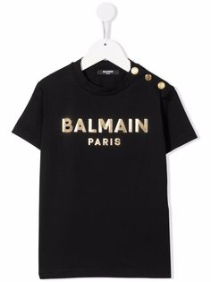Balmain Kids футболка с логотипом
