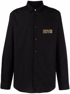Versace Jeans Couture рубашка с вышитым логотипом