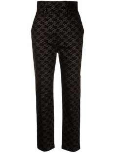 Fendi брюки с завышенной талией и узором FF Karligraphy